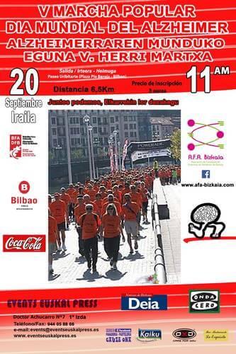 """V Marcha Popular contra el Alzheimer - """"Juntos Podemos"""""""